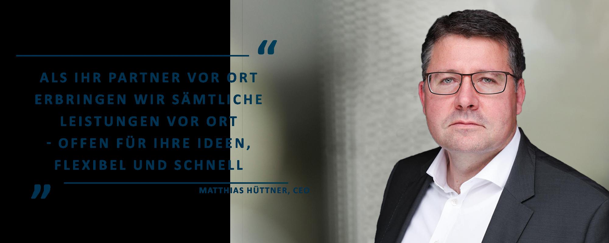 Zitat von Matthias Hüttner, CEO SPIRIT/21 IT Services GmbH: